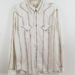 American Eagle Vintage Slim Fit Western Shirt